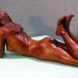 David Crawford, Naked Lady, mahogany.