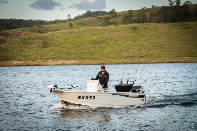 The rear baitboard and livewell is an innovative use of space in the 490WR.