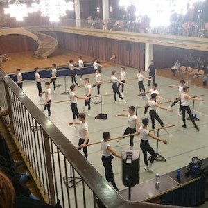 Class at a previous Prix de Lausanne.