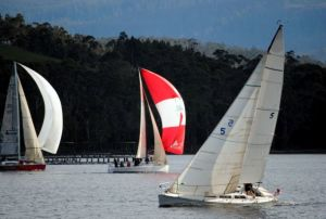 Emotional Rescue was topscoring boat in Division 1. Photo Peter Campbell.