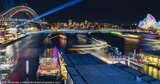 The Cahill Expressway, above Circular Quay, is a great spot to capture boats coming in and out of the wharf.