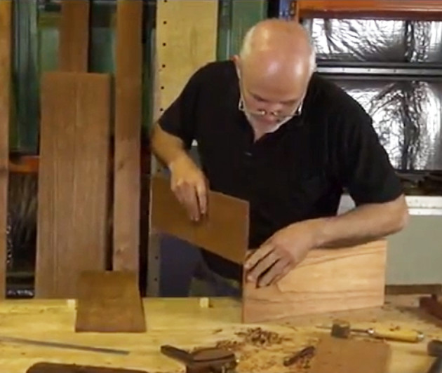 Terry Gordon demonstrates how to use a dado plane to join drawer components..