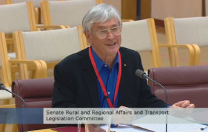 Dick Smith addresses the Senate inquiry into the performance of Airservices Australia on 18 August 2015. (Still from official video)