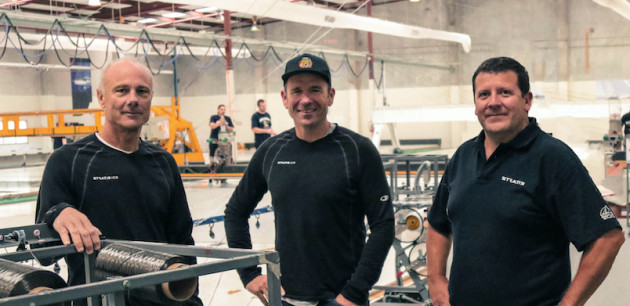 The new management team at Doyle Sails NZ: (l-r) Richard Bouzaid, director of design, Mike Sanderson, CEO, and David Duff, managing director.