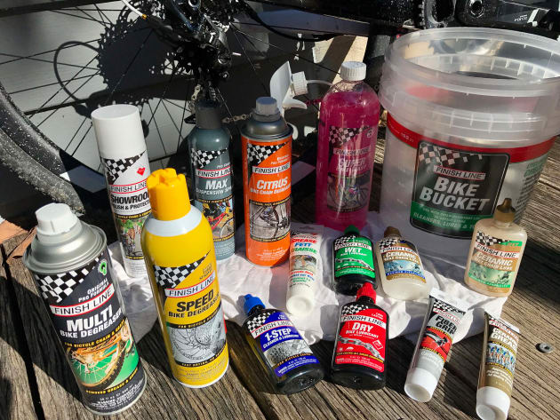 There are no excuses for a dirty bike with the full range of Finish Line bike cleaning products on hand - time to get cleaning!