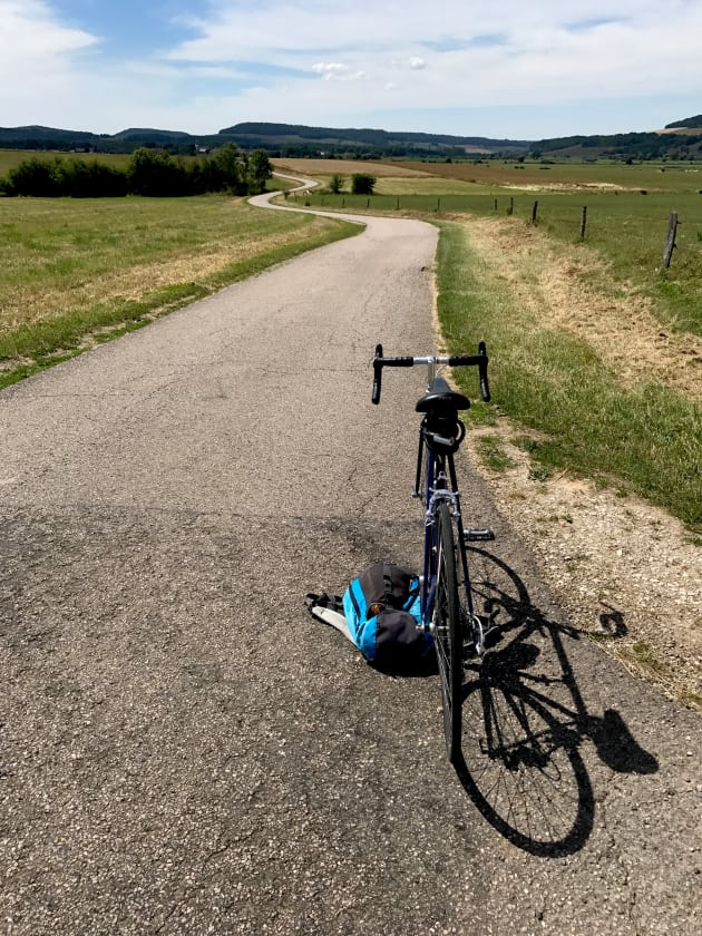 36 degrees in the sun and a dream cycling road between Vittel and Aingville. Image: Nat Bromhead