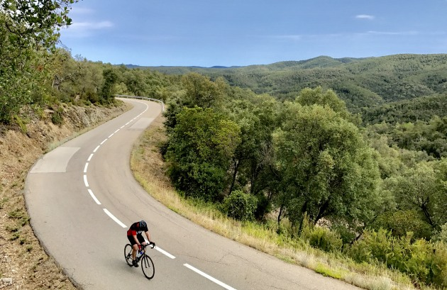 Traffic-free roads and stunning scenery ... two of the reasons 'Netti' loves training in Girona. Image: Nat Bromhead
