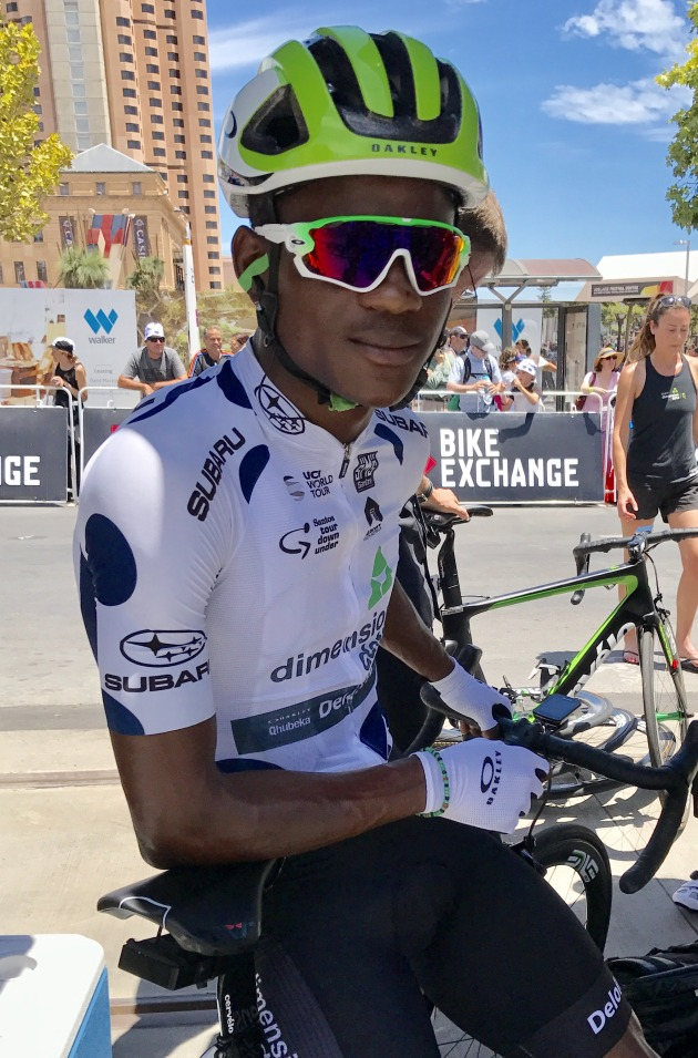 Nicholas Dlamini of Team Dimension Data took out the polka dot king of the mountain