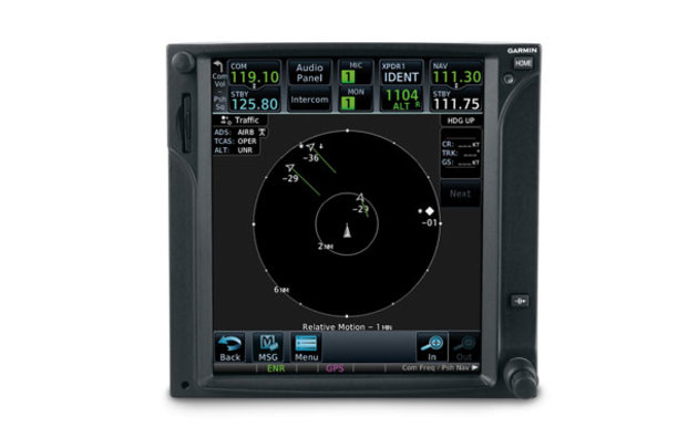 Garmin's GTN 750 navigator with ADS-B display. (Garmin)