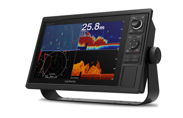 The new 12-inch Garmin GPSMAP 1222xsv with keypad control.