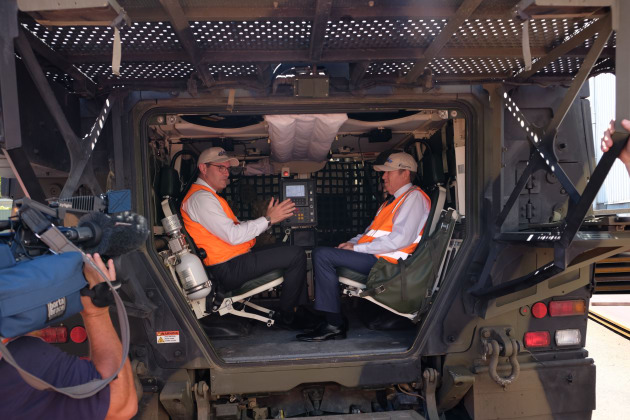 Rheinmetall has announced that Wollongong based Bisalloy Steel will produce the steel for their Boxer should their Land 400 bid be successful. Credit: Rheinmetall