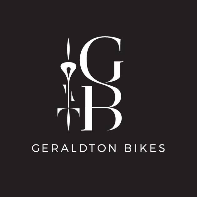 This logo for the new Geraldton Bikes store is certainly more sophisticated than the logo of a typical Australian country town bike shop.