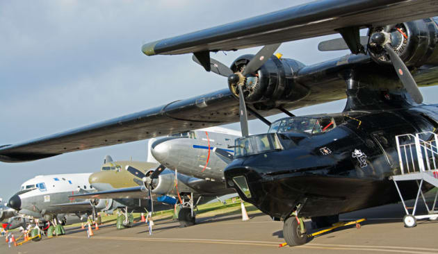 The Historical Aircraft Restoration Society has an impressive collection of historic multi-engine aircraft. (Steve Hitchen)