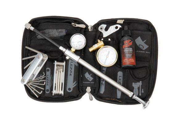 <p>Keep a selection of bike specific tools in your car; lube, shock pump, floor pump, pressure gauge and other tools. It'll be handy for trailhead tinkering and ensure that your time on the trail is spent riding, not faffing!</p>