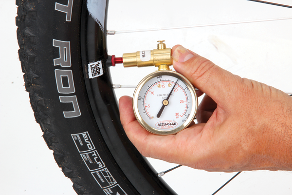 <p>Get yourself a reliable pressure gauge and monitor your tyre pressures— check them before every ride. Doing this and experimenting a little will help you find a setting that suits your trails and style. It'll also ensure that you spot any slow leaks before you are on the trail with your mates waiting for you.</p>