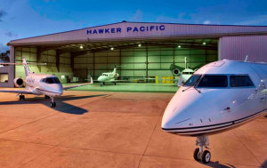 Hawker Pacific has extensive in-house expertise in dealing with corporate jets. (Hawker Pacific)