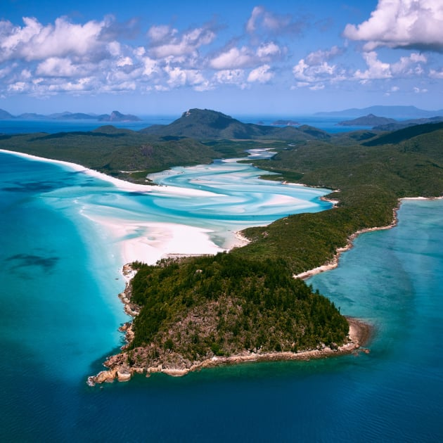 Hill Inlet, Whitsunday National Park, Queensland. A scenic flight over the Whitsundays and the Great Barrier Reef was one of the most spectacular experiences of my life. I asked the pilot to make several passes of this scene to ensure that I got the result I was looking for. The inlet is best photographed at lower tides to reveal more colours, so it's always worth timing your flight for those conditions. Sony A7RII, Canon 24-70mm f/2.8 II, 1/2000 sec @ f/7.1, ISO 160