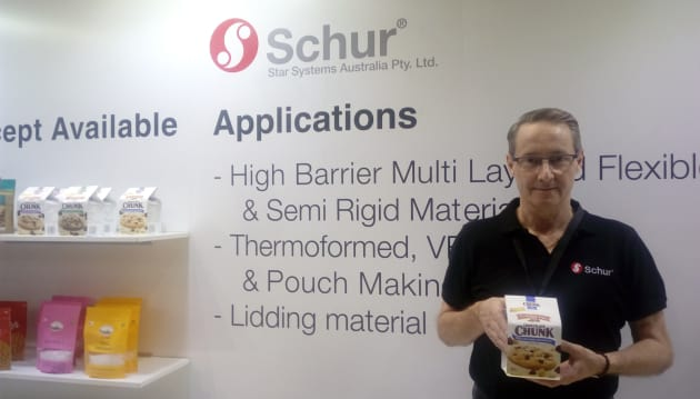 "Philip Bower, ANZ business manager for machinery and packaging company Schur Star Systems Australia, says the Schur Star machine ""can do everything"", from cookie 'box bags' which ""take control of the cookie post-baking"" to 'jar packs' which give bags a 3D look."