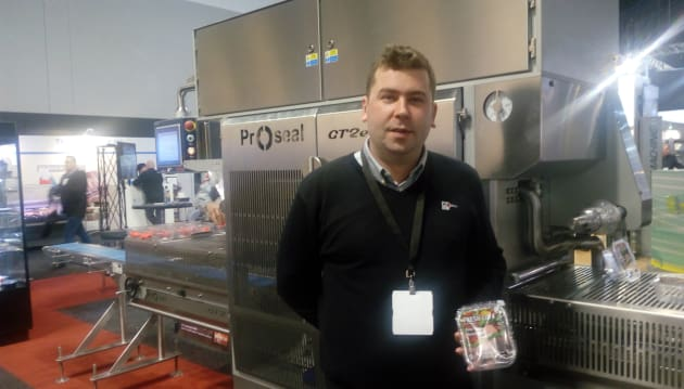 Proseal Australia's general manager Scott Templeton took us through an innovative solution for fresh produce which results in a 50 per cent packaging reduction on the traditional heavy gauge plastic used on berry and tomato pack lids. 