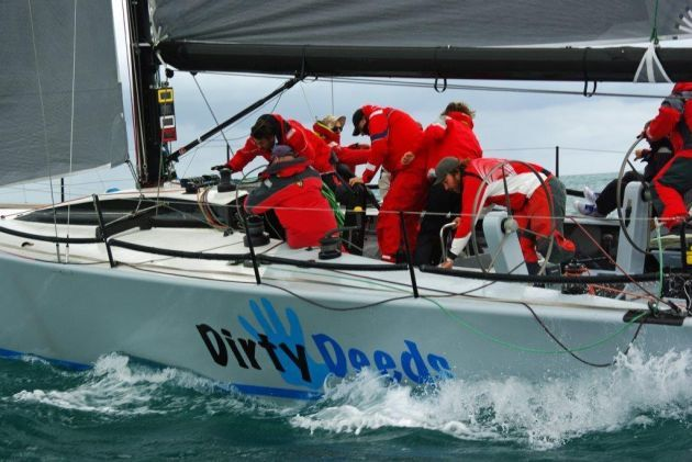 Dirty Deeds was second into Geraldton. Photo Richard Steuart.