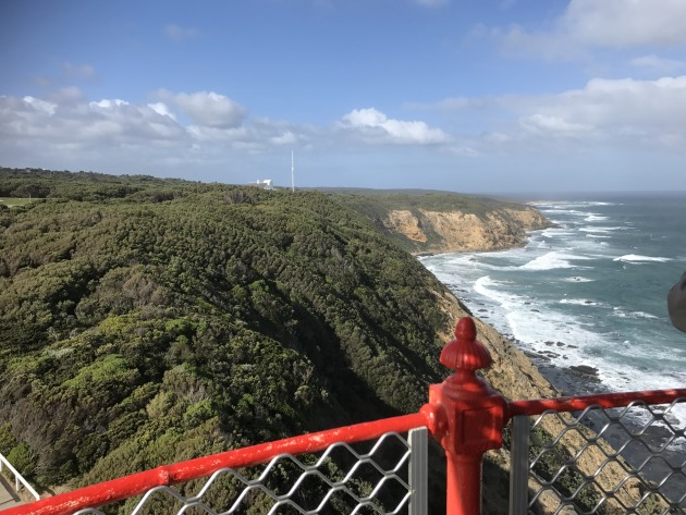 The view from the top of Cape Otway Lighthouse.
