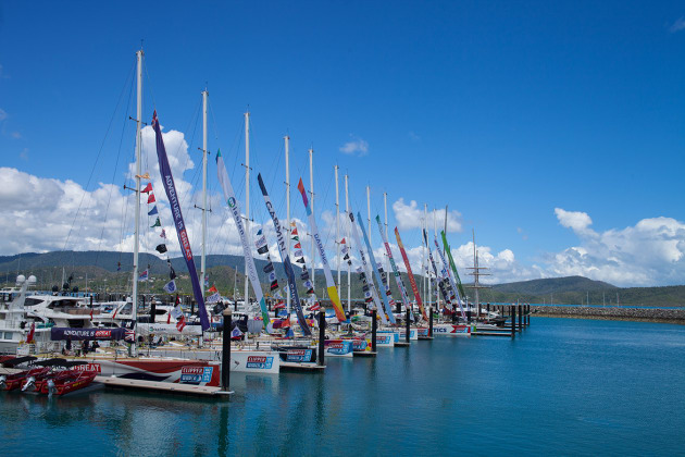 Clipper boats docked at Abell Point Marina. Photo Corinn Stickland.