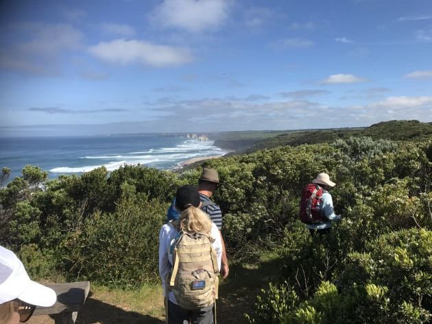 The group's first sighting of the Twelve Apostles.