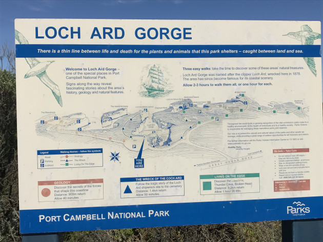 The Great ocean Walks is well mapped out and sign posted.