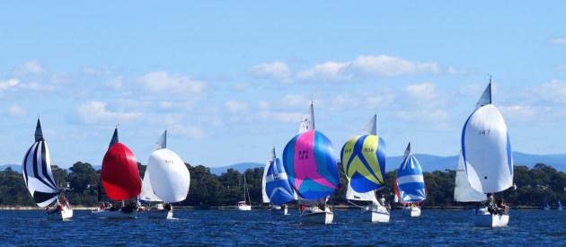Australian Trailable Yachts racing.
