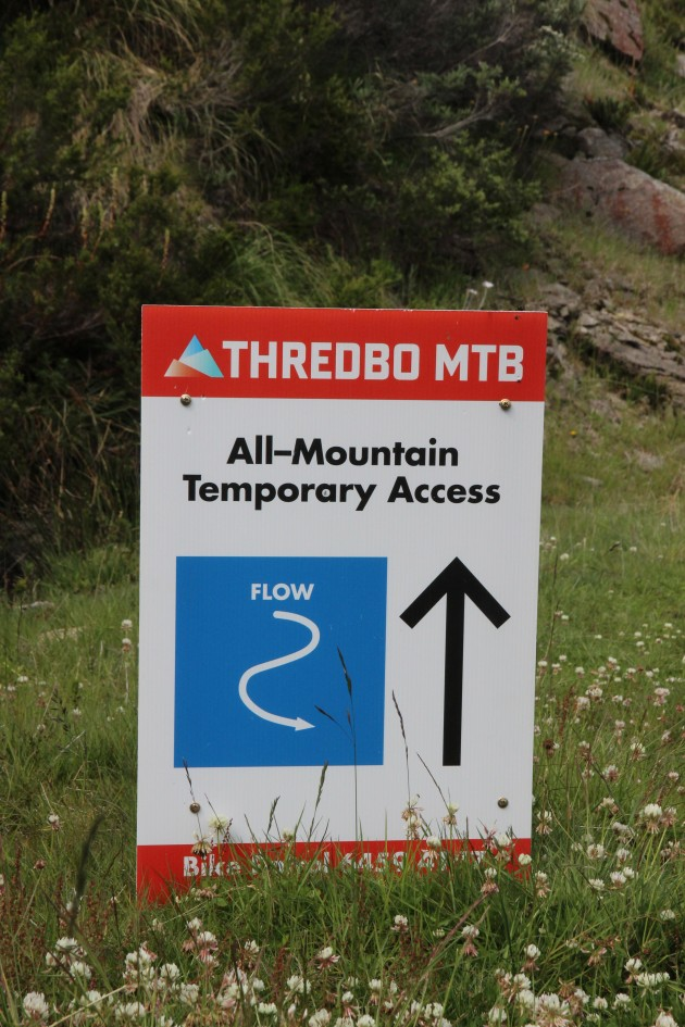The temporary access route is well marked, so you won't have any troubles finding the new trail.