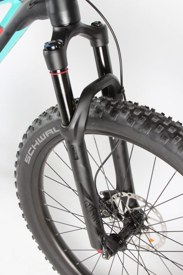 Excellent control and accurate steering from the RockShox Yari fork.