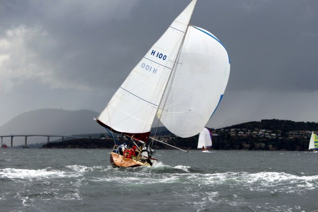 Lock on Wood starts to rock and roll downwind. Photo Peter Watson.
