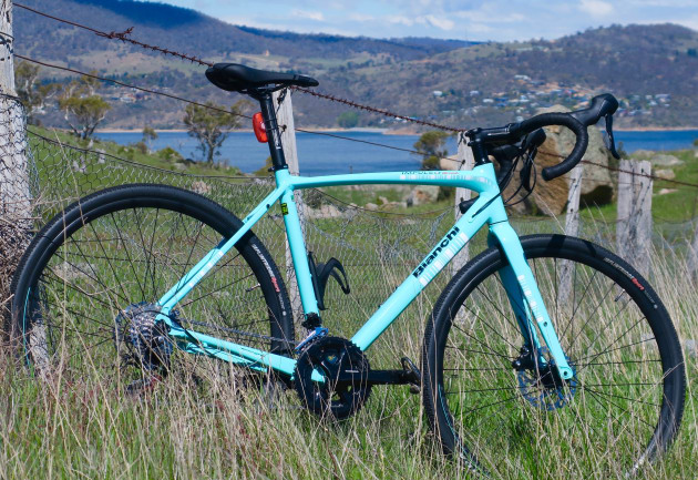 The Bianchi Impulso AllRoad - the 130yo Italian manufacturers latest gravel / go-anywhere offering. Image Nat Bromhead.
