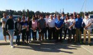 Ready to learn: participants at a marina management training course held on the Gold Coast.