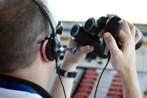 An Air Traffic Controller on duty at Mackay. (Airservices Australia)
