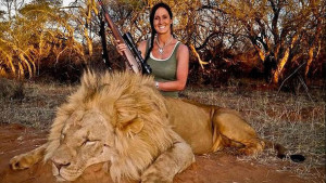 Melissa Bachman sparked outrage when she posted this photo of herself with the male lion she took in South Africa. It also prompted a balanced argument from one South African commentator who pointed out the facts.