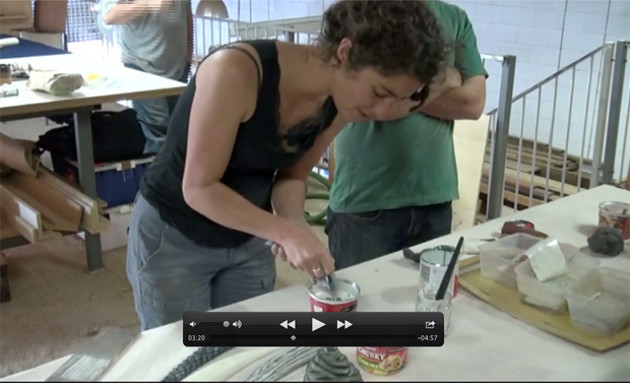Melissa Engler demonstrates how to create a unique finish with milk paint.