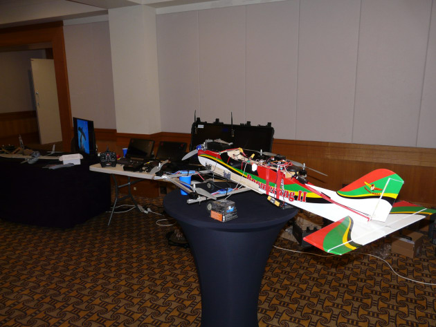 Army's Drone racing team was on hand at the event with some models and UAS of varying size and type.