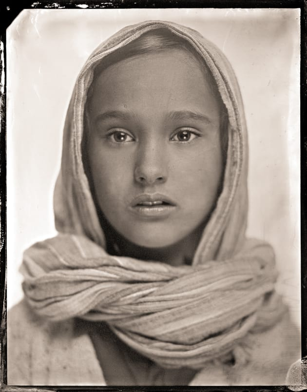 """N"" as a tintype. 4 x 5 inch direct positive, wet plate collodion on metal. © Paul Alsop."