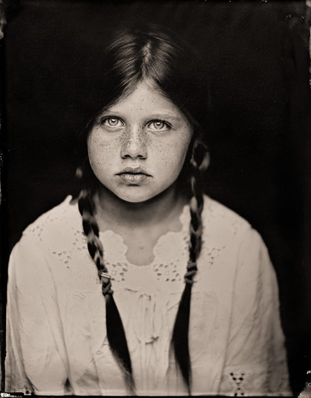 """N (braids)"" as a tintype. 4 x 5 inch direct positive, wet plate collodion on metal. © Paul Alsop."