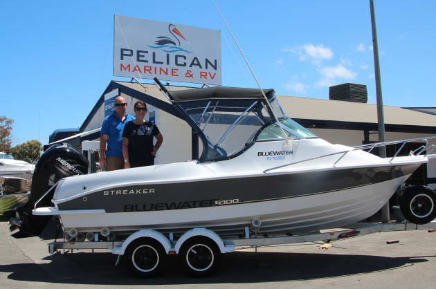 Proud new owners: David and Hazel Fisher at Pelican Marine & RV.