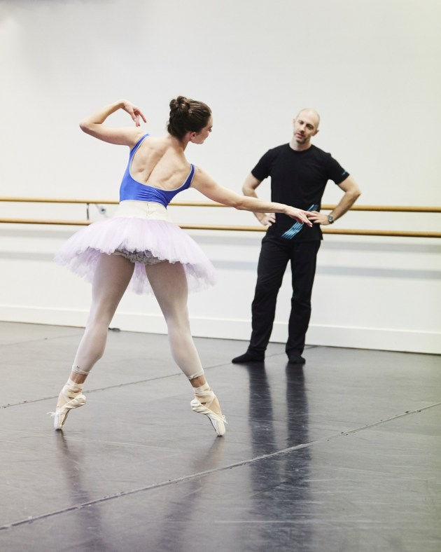 Tristan Message rehearsing 'The Sleeping Beauty'. Photo: JAMES BRAUND