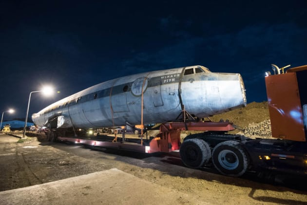 Qantas Founders Museum Super Constellation starts its journey to the port. (QFM)