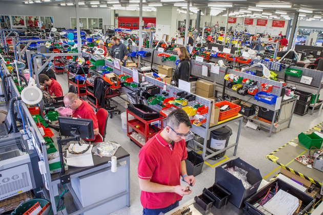 The Redarc factory floor – the company is currently engaged in a major expansion of its workforce and capital. Credit: Redarc Electronics