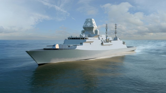 Artist's impression of the GCS-A for Sea 5000 complete with CEA phased array. Credit: BAE Systems PLC