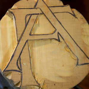 as a further illustration of raised letter carving i carved the example below in a lindesfarne or celtic type lettering once used in the writings of monks