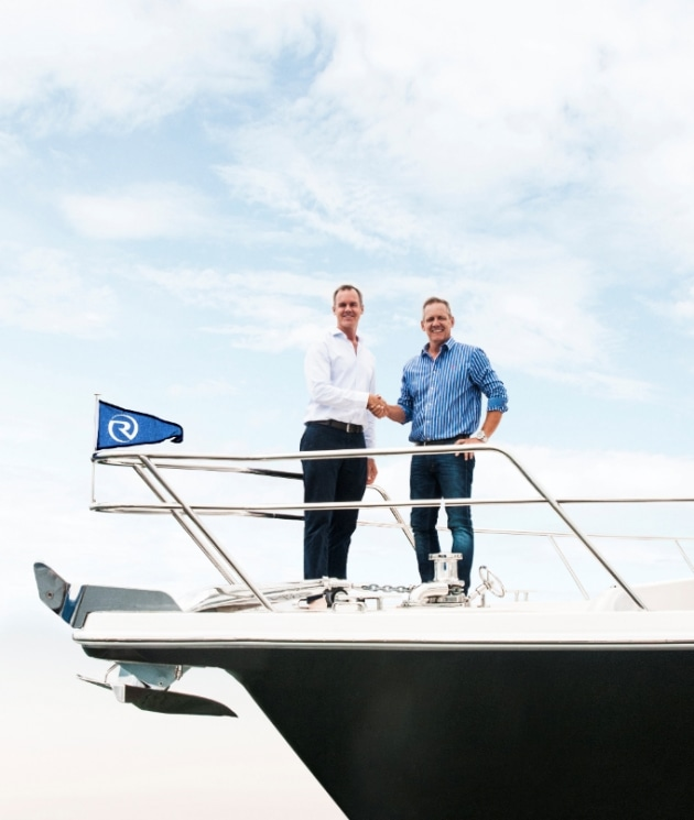 SCIBS general manager Johan Hasser and Riviera chairman Rodney Longhurst (left).