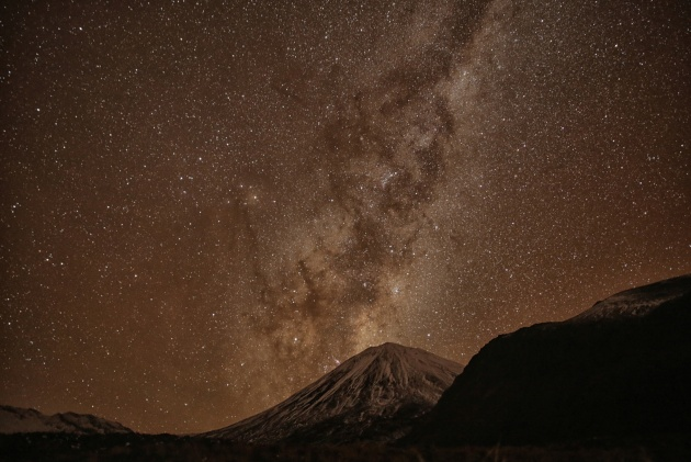 On my first night upon the famed Tongariro Alpine Crossing, I captured this image of the New Zealand night sky. May 2017.