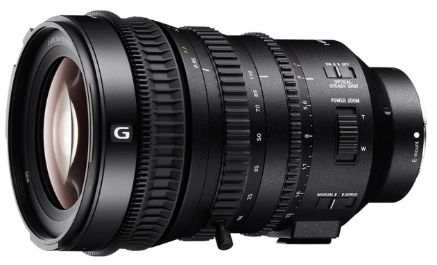 Sony's new E PZ 18-110mm F4 G OSS cinema lens for Super 35mm and APS-C.