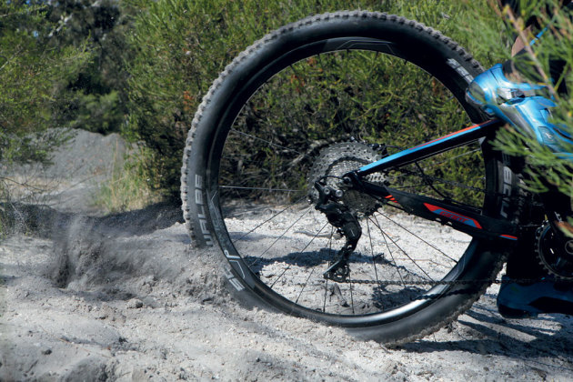 You don't need a fatbike but if your trails commonly have deep sandy patches, selecting some larger volume tyres will help you to stay afloat. Also run wide rims if you can, as these will allow you to lower your tyre pressures without suffering from excessive tyre squirm.